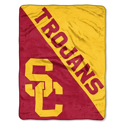 """USC Trojans 60"""" x 46"""" Raschel Throw Blanket"""