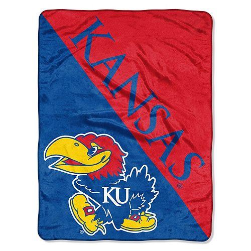 "Kansas Jayhawks 60"" x 46"" Raschel Throw Blanket"