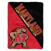 """Maryland Terrapins 60"""" x 46"""" Raschel Throw Blanket"""