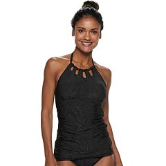 Women's Apt. 9® High-Neck Cutout Halterkini Top