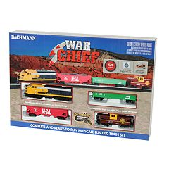 Bachmann Trains Santa Fe War Chief Ready To Run HO Scale Electric Train Set
