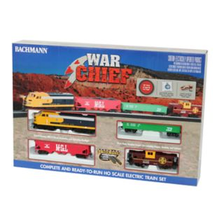 Bachmann Trains Santa Fe War Chief Ready To Run HO Scale Electric Train Set