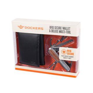 Men's Dockers RFID-Blocking Passcase Wallet & Deluxe Multi Tool