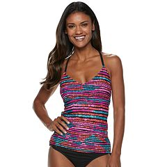 Women's Apt. 9® Striped Macrame Tankini Top