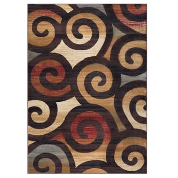 KHL Rugs Carley Contemporary Scroll Rug