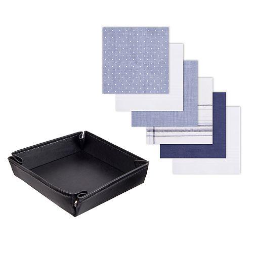 Men's Dockers® 6-pack Handkerchiefs & Valet Tray