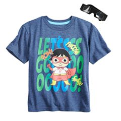 Boys 4-7 Ryan's World 'Let's Go!' 3-D Superhero Graphic Tee & Goggles Set