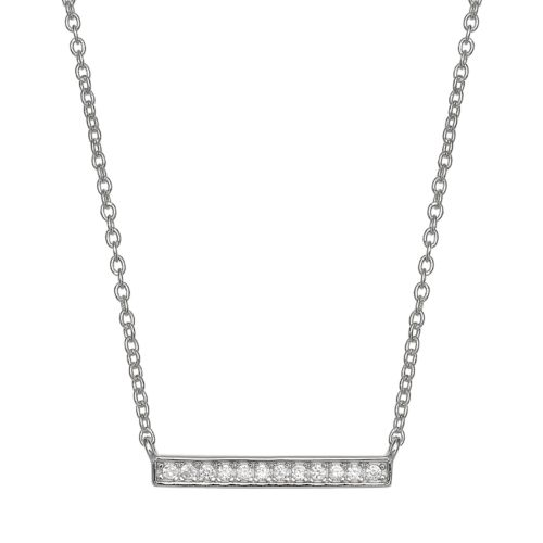 Primrose Sterling Silver Cubic Zirconia Bar Necklace by Kohl's