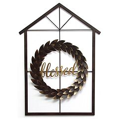 Stratton Home Decor 'Blessed' Wreath & House Wall Decor