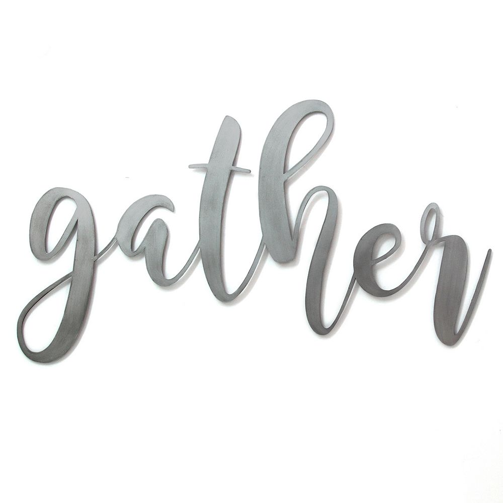 "Stratton Home Decor ""Gather"" Metal Wall Decor"
