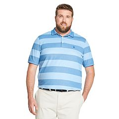 Big & Tall IZOD Advantage Sport Flex Classic-Fit Rugby-Striped Performance Polo