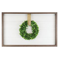 Belle Maison Farmhouse Faux Greenery Wreath Wall Decor