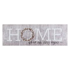 Belle Maison 'Home' Farmhouse Canvas Wall Art