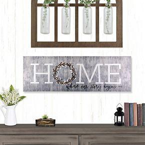 "Belle Maison ""Home"" Farmhouse Canvas Wall Art"