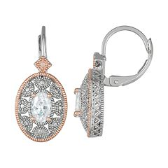 Lily & Lace Two-Tone Cubic Zirconia Leverback Earrings