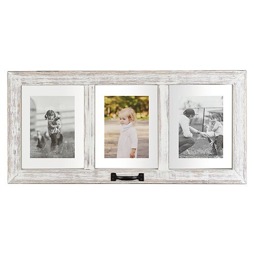 Belle Maison 3-Opening Floating Distressed Collage Frame