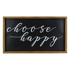 Belle Maison 'Choose Happy' Farmhouse Wall Decor