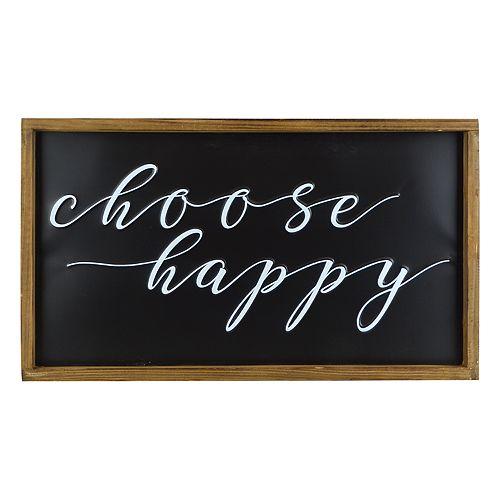 "Belle Maison ""Choose Happy"" Farmhouse Wall Decor"