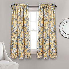 Lush Decor 2-pack Dolores Room Darkening Window Curtain