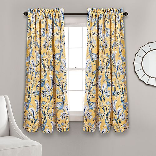 Lush Decor 2 Pack Dolores Room Darkening Window Curtains