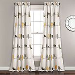 Lush Decor 2-pack Rowley Birds Room Darkening Window Curtain