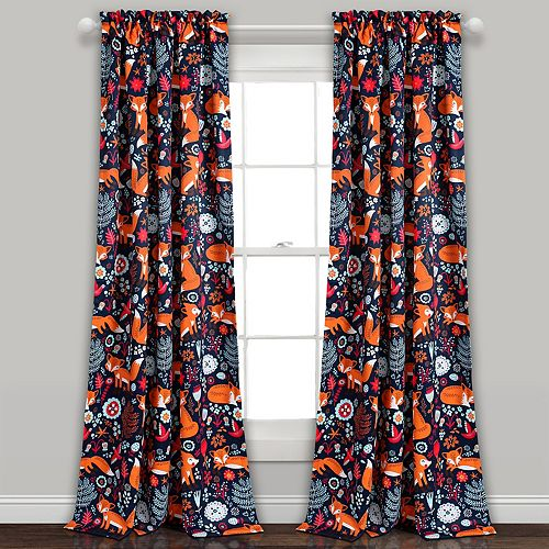 Lush Decor 2-pack Pixie Fox Room Darkening Window Curtain