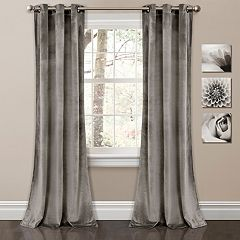 Lush Decor 2-pack Prima Velvet Solid Room Darkening Window Curtain