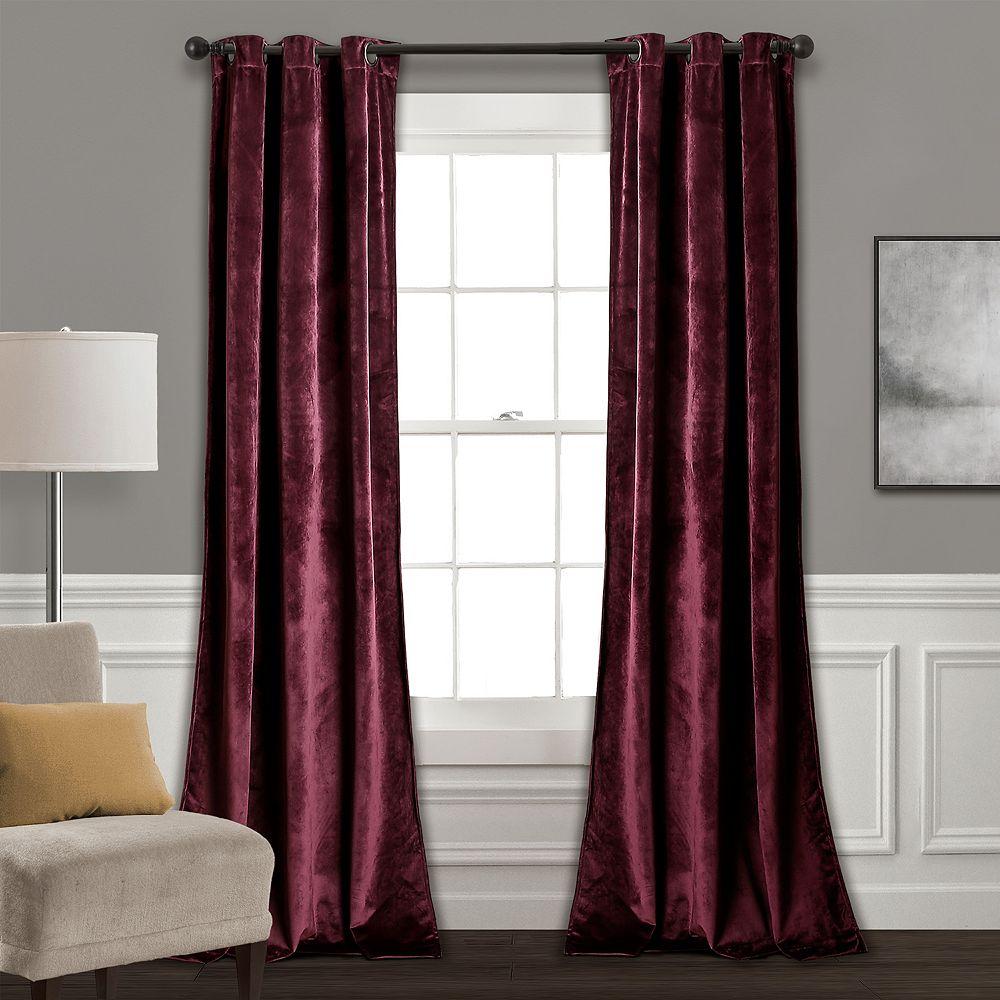 Lush Decor 2-pack Prima Velvet Solid Room Darkening Window Curtains