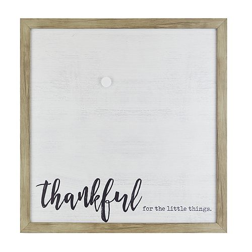 """Belle Maison """"Thankful"""" Canvas Magnetic Wall Decor"""