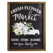 "Belle Maison ""Flower Market"" Farmhouse Wall Decor"