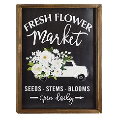 Belle Maison 'Flower Market' Farmhouse Wall Decor