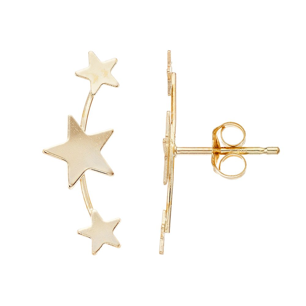 Taylor Grace  10k Star Climber Earrings