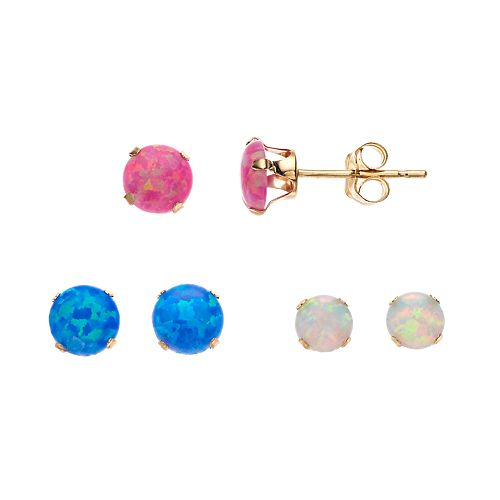 Stella Grace 10k Opal Earring Set