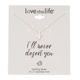 love this life Sterling Silver Silver Cactus Pendant Necklace
