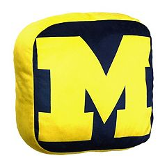 Michigan Wolverines Logo Pillow