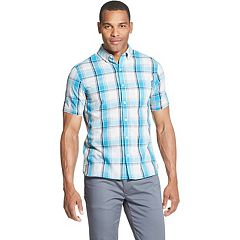 Men's Van Heusen Never Tuck Slim-Fit Easy-Care Printed Button-Down Shirt
