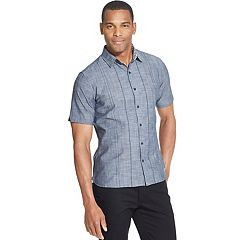 e520a41a Men's Van Heusen Never Tuck Slim-Fit Easy-Care Printed Button-Down Shirt