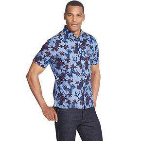 Men's Van Heusen Never Tuck Slim-Fit Easy-Care Printed Button-Down Shirt