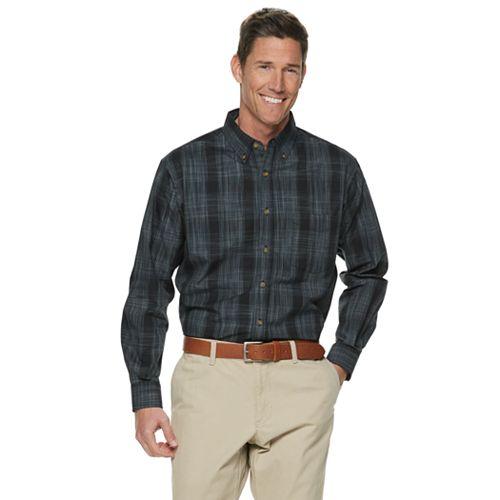 Men's Haggar Weekender Classic-Fit Button-Down Shirt