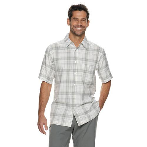 Men's Haggar Cool 18® Classic-Fit Microfiber Button-Down Shirt