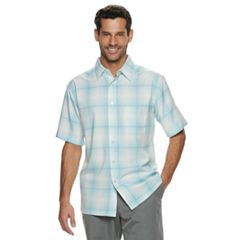 Men's Haggar Cool 18® Classic-Fit Microfiber Button-Down Shirt