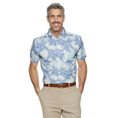 Men's Haggar Classic-Fit Stretch Button-Down Shirt