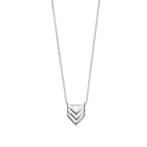 love this life Sterling Silver Chevron Pendant Necklace