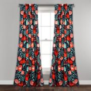 Lush Decor 2-pack Poppy Garden Room Darkening Window Curtain