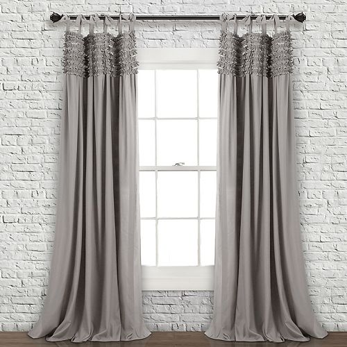 Lush Decor 2-pack Lydia Ruffle Window Curtain