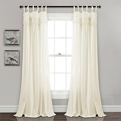 Lush Decor 2-pack Lydia Ruffle Window Curtain
