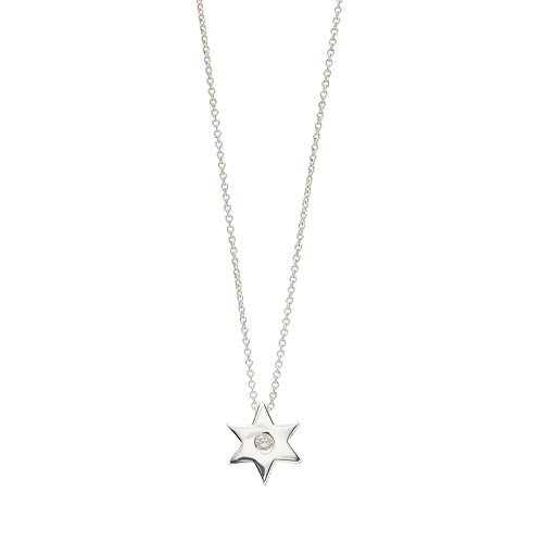 love this life Sterling Silver Star Pendant Necklace