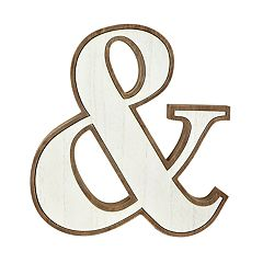 The Gallery Collection Rustic Ampersand Wall Decor