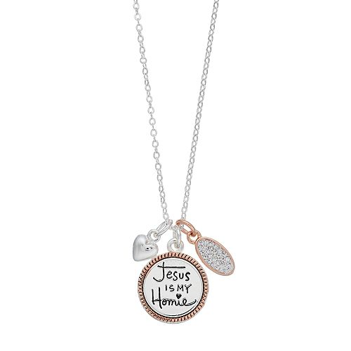 "Grace and Gratitude ""I'm with Jesus"" Crystal Charm Necklace"