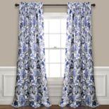 Lush Decor 2-pack Cynthia Jacobean Room Darkening Window Curtain